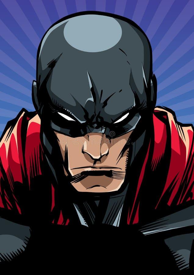 Portrait Ray Light de super héros illustration de vecteur