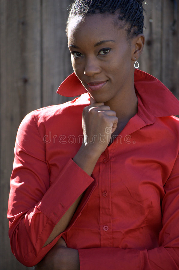 Portrait in red royalty free stock photos