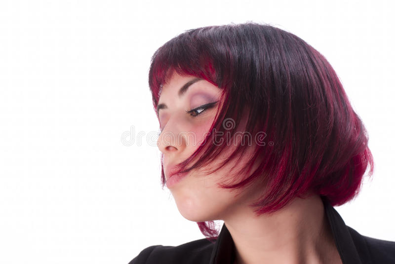 Portrait with red hair stock photos