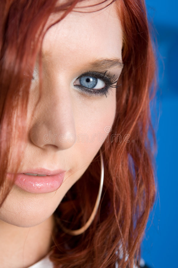 Portrait of red head woman royalty free stock photography