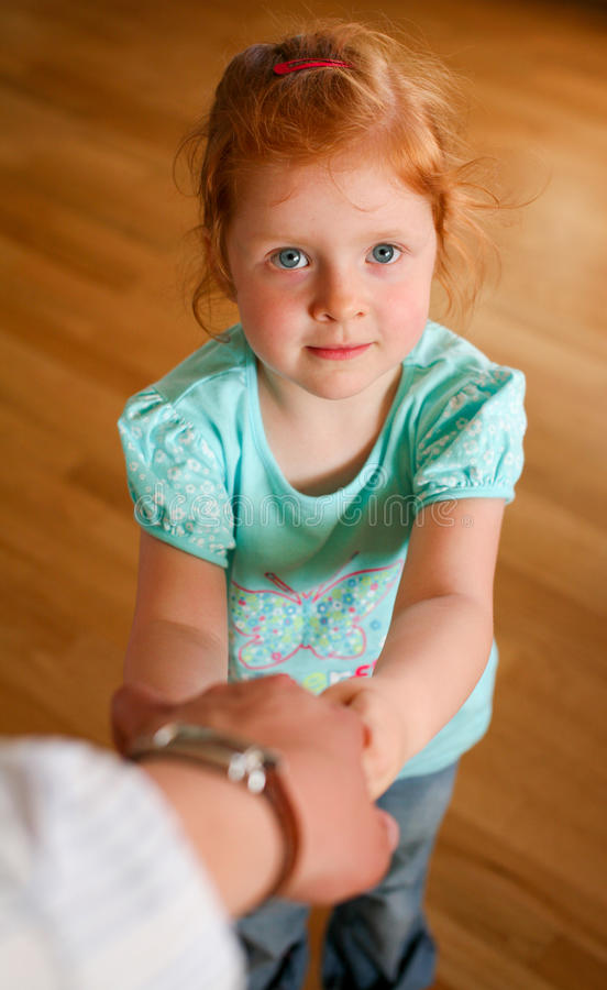 Download Portrait Of Redhead Little Girl Stock Photo - Image of eyes, look: 10094086