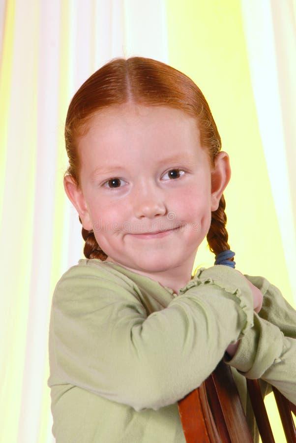 Portrait Redheaded Girl royalty free stock photo