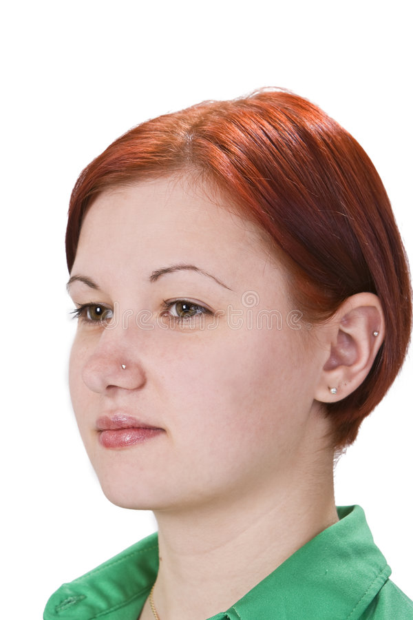 Download Portrait Of A Redheaded Girl Stock Image - Image of girl, piercing: 6983483