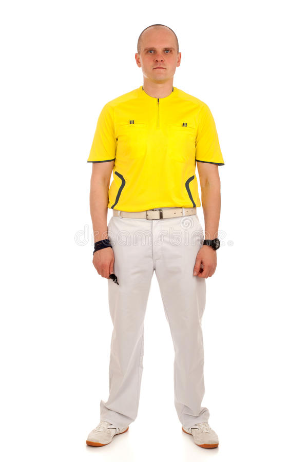 Download Portrait of a referee. stock image. Image of white, sportsman - 30228837