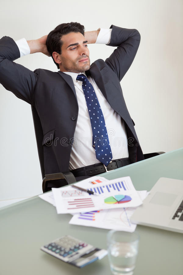 Portrait of a relaxed sales person royalty free stock images