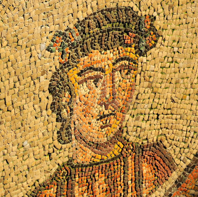 Portrait of a roman stock photo