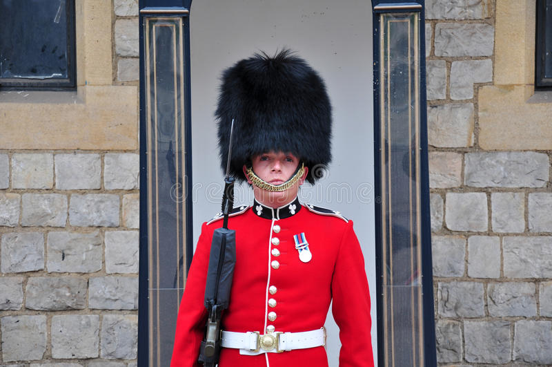 Portrait of royal guard royalty free stock photos
