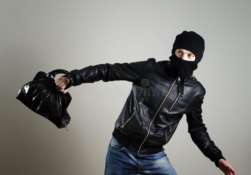 Download Portrait Of Running Male Burglar Stock Image - Image: 23968349