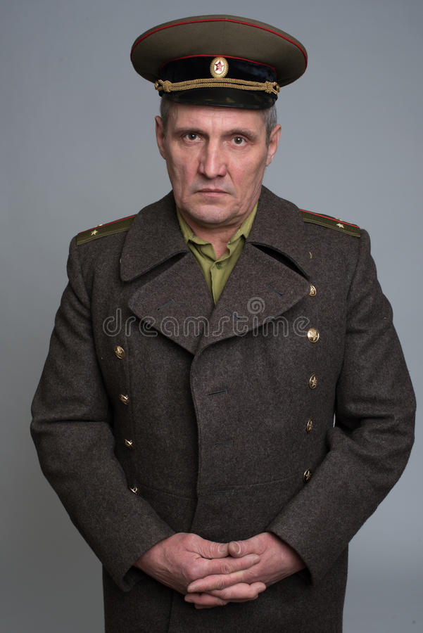 Portrait of Russian military officer royalty free stock image