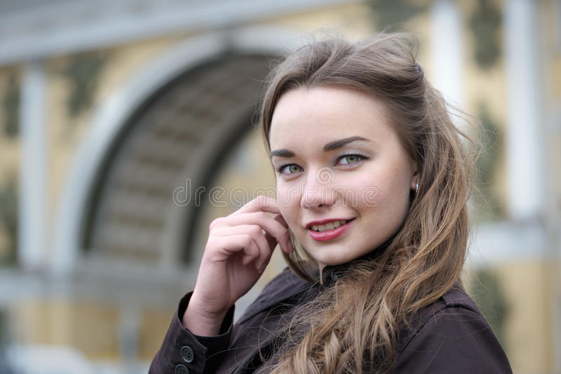 Portrait of russian woman stock photos