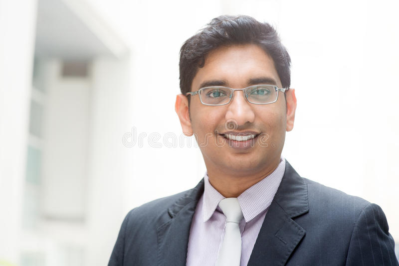 Portrait of 30s Asian Indian businessman royalty free stock images