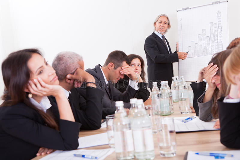 Portrait Of Sad Business Team. Photo Of Sad Business Team Attending The Seminar royalty free stock photography