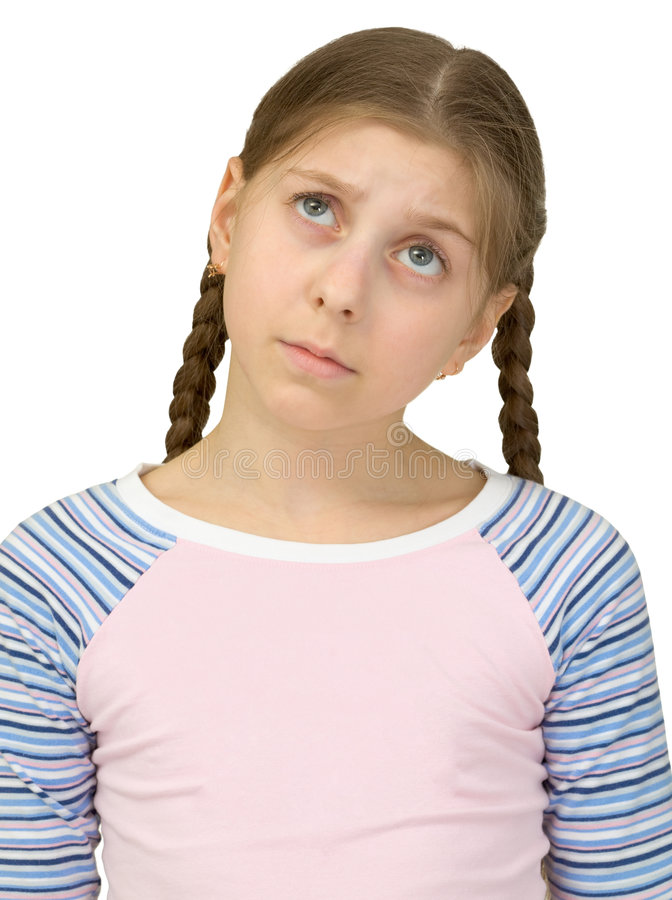 Download Portrait of the sad girl stock photo. Image of sullen - 9175076