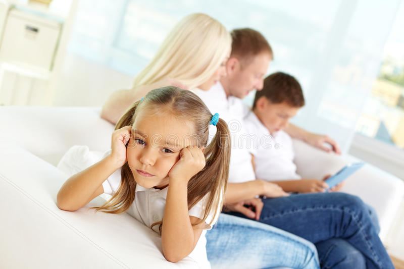 Download Sad girl stock photo. Image of father, childhood, casual - 30211654