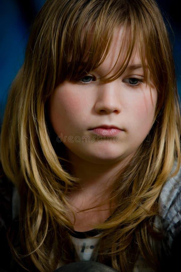 Portrait of a sad girl royalty free stock photo