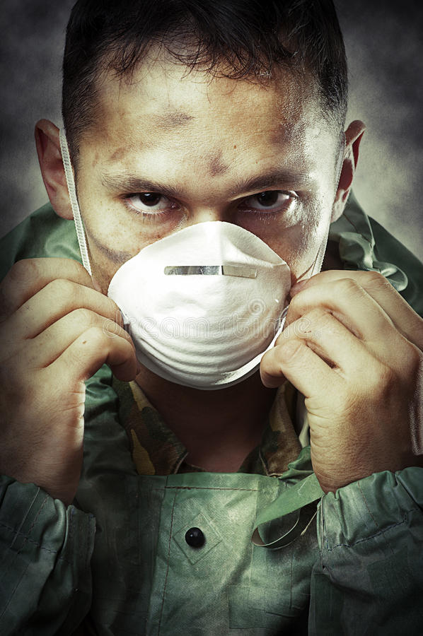 Download Portrait Of Sad Man In Breathing Mask Stock Photo - Image: 21137148