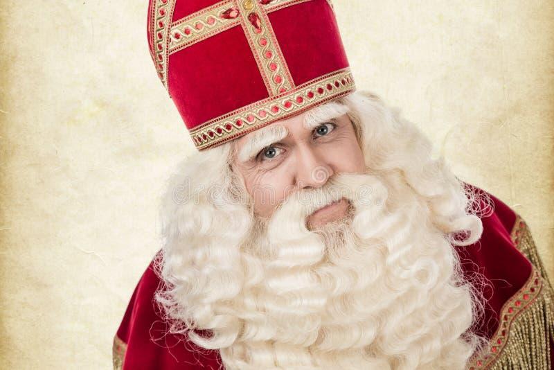Portrait of Saint Nicholas stock images