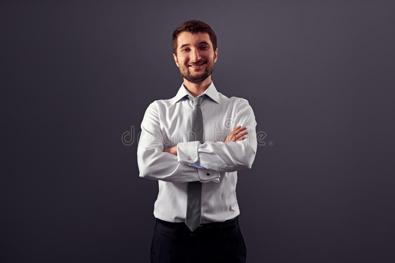 Download Satisfied businessman stock photo. Image of shirt, person - 30003442