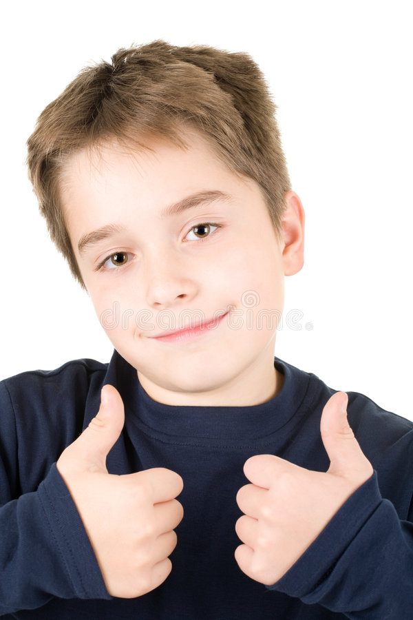 Portrait of a satisfied young boy stock photography