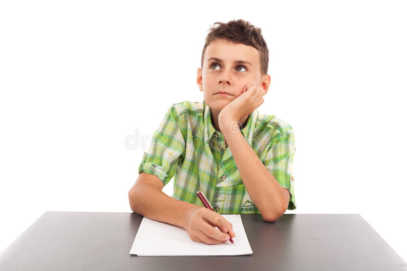 Download Portrait Of A Schoolboy Doing His Homework Stock Photo - Image: 26777180