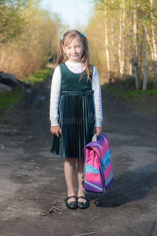 Portrait of a schoolgirl stock photos