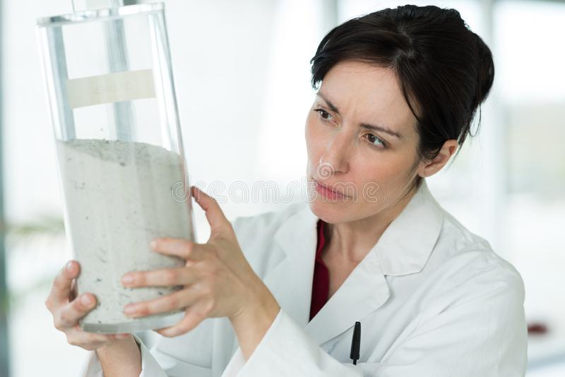 Portrait scientist microbiology worker royalty free stock photography