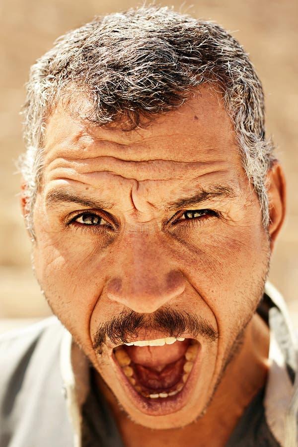 Portrait of a bedouin stock photo