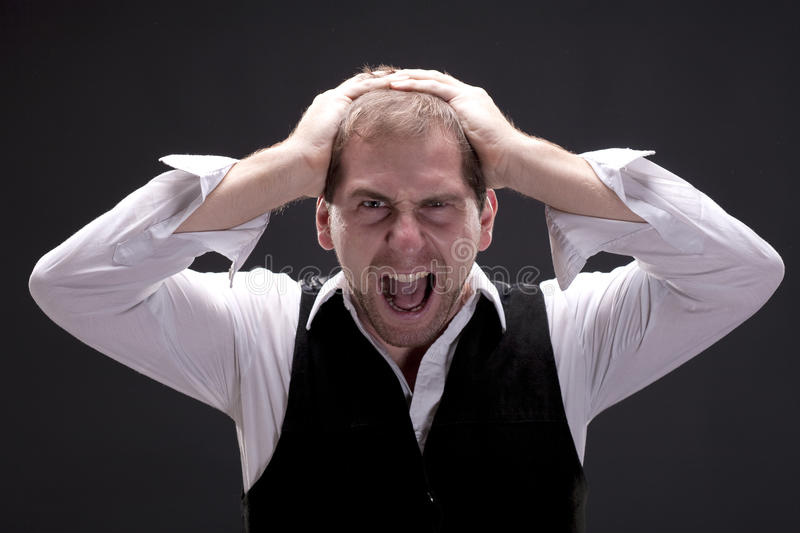 Download Portrait Of A Screaming Man Stock Image - Image: 27847225