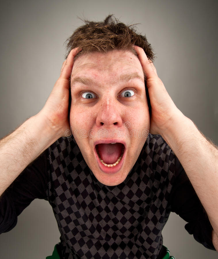 Download Portrait Of Screaming Surprised Man Stock Image - Image: 19134353