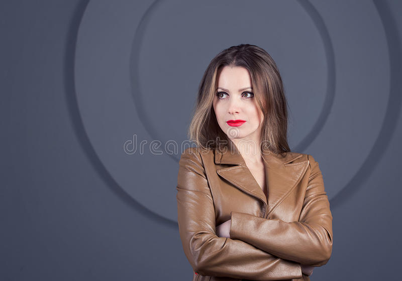 Portrait of self-confident woman royalty free stock image