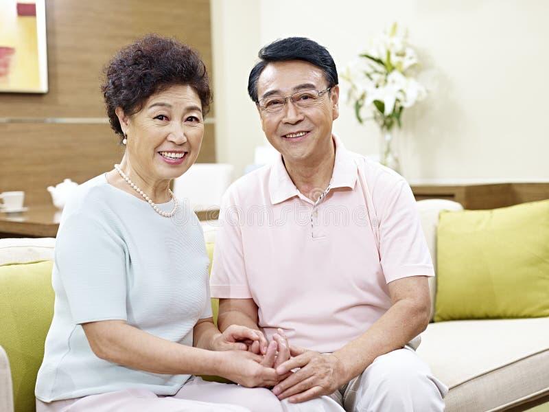 Portrait of senior asian couple royalty free stock photo
