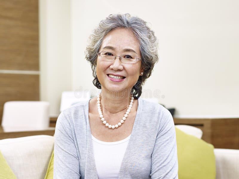 Portrait of senior asian woman royalty free stock photo