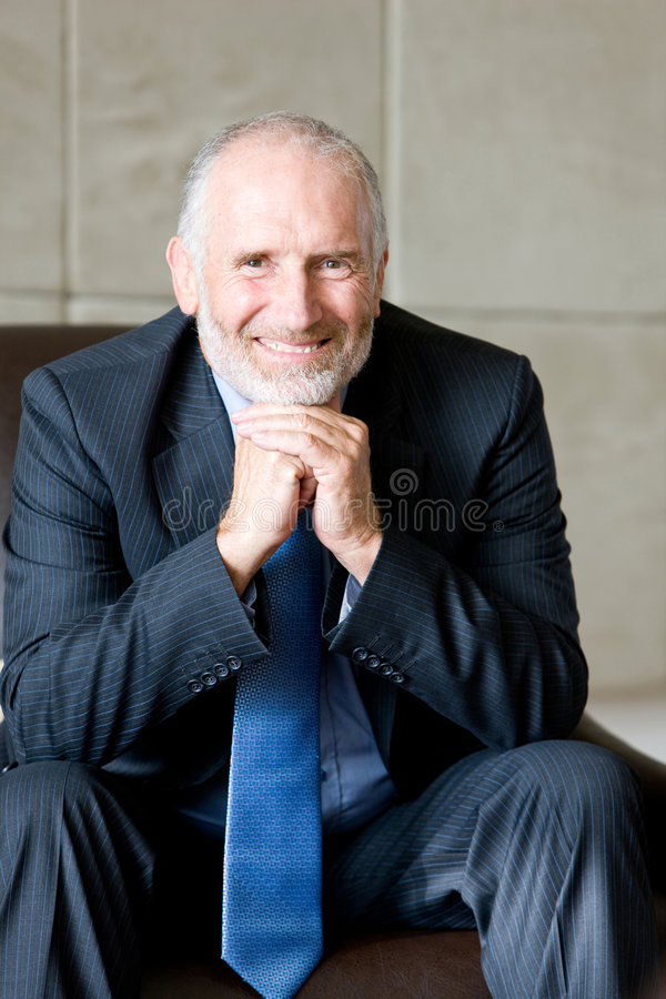 Portrait of Senior business man royalty free stock images