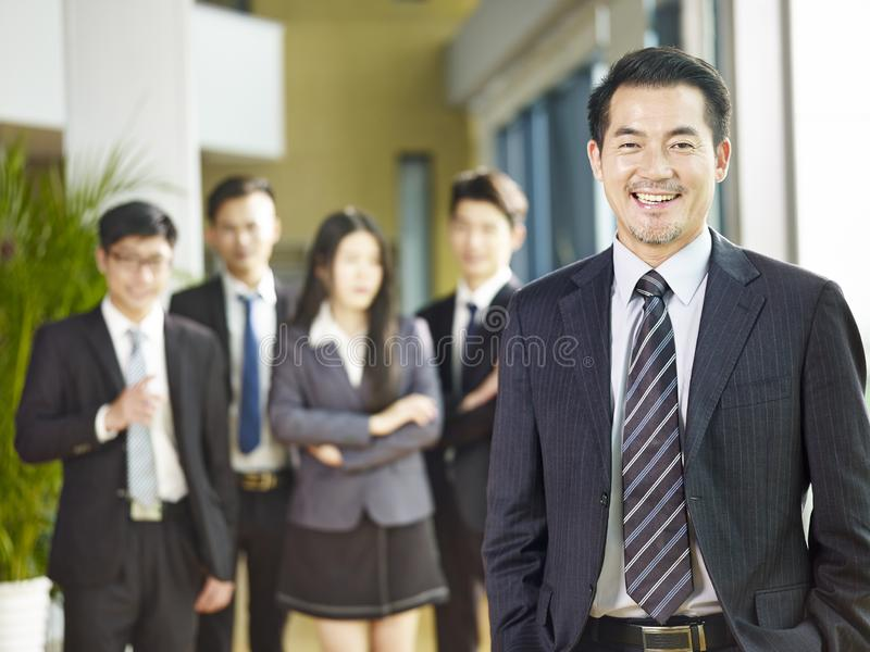 Portrait of a senior corporate executive stock photo