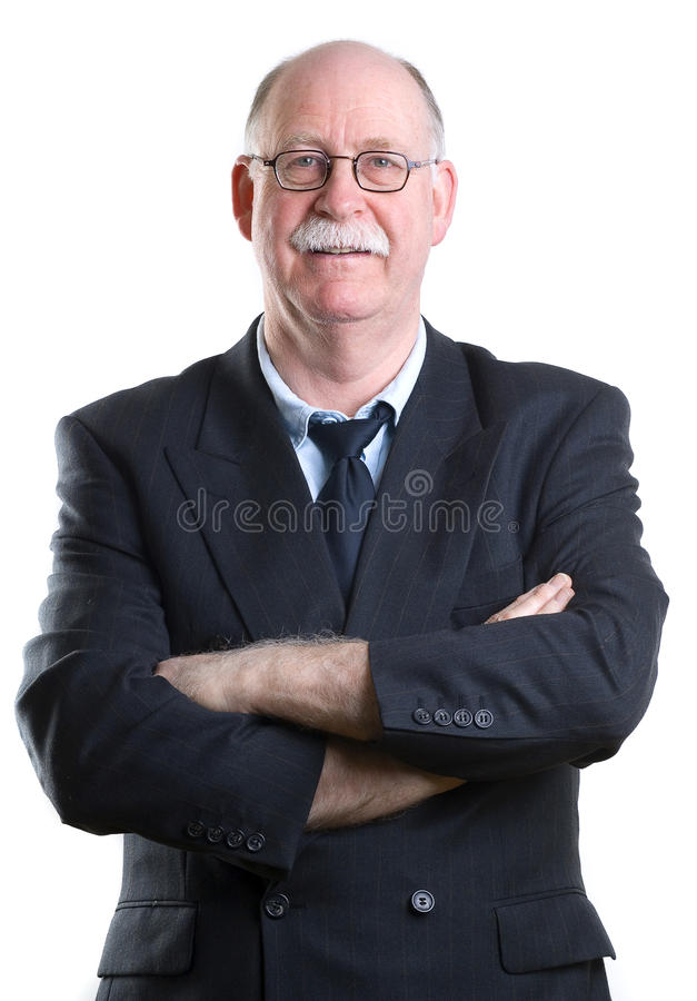 Portrait of a senior businessman royalty free stock images