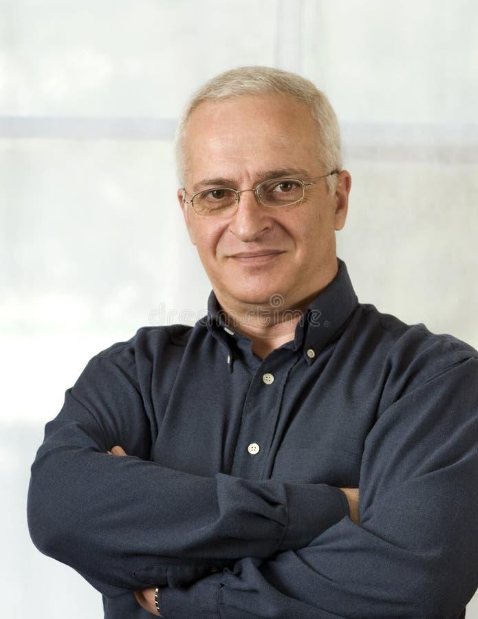 Portrait of a senior businessman royalty free stock image