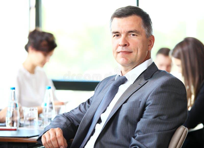 Portrait of senior businessman stock images