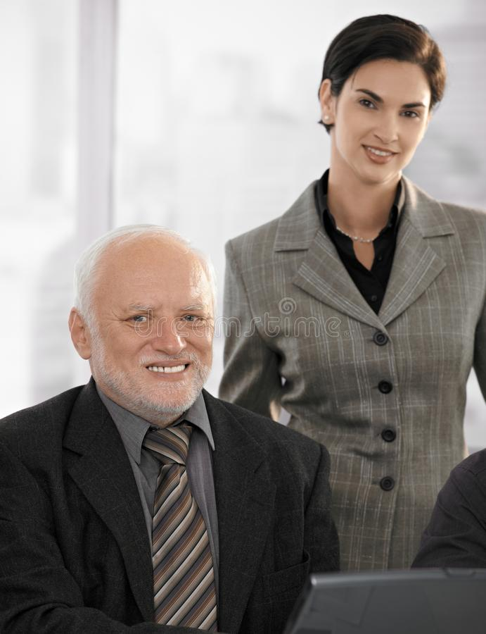 Portrait Of Senior Businessman With Partner Royalty Free Stock Images