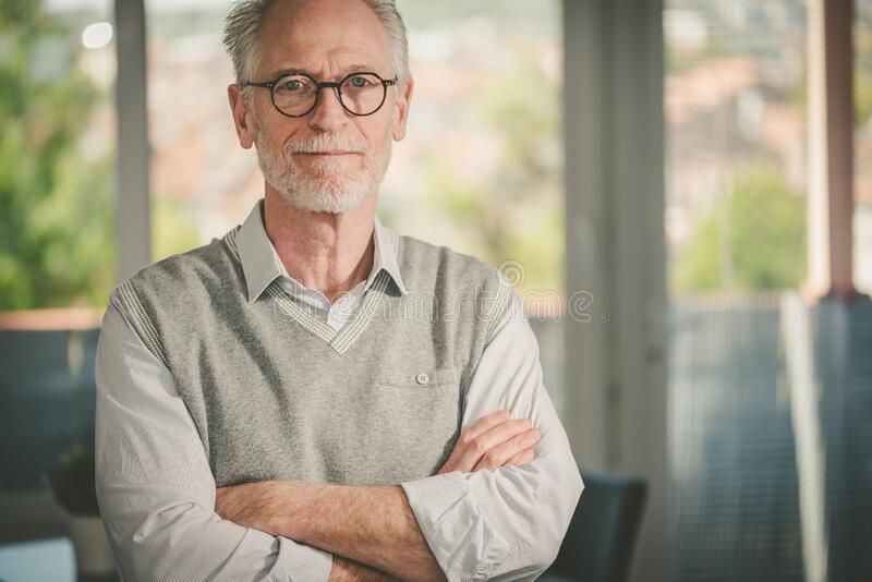 Portrait of senior businessman royalty free stock images