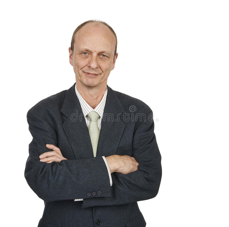 Portrait of a senior businessman smiling royalty free stock photos