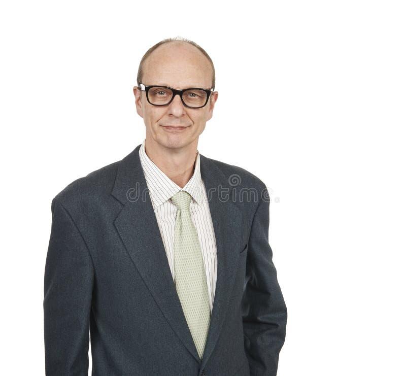 Portrait of a senior businessman smiling stock photography