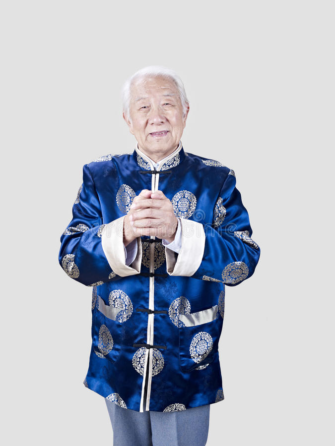 Portrait of a senior chinese man royalty free stock photo
