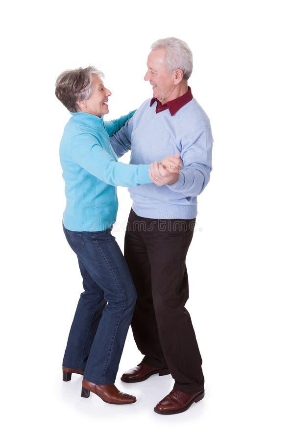 Portrait of senior couple dancing royalty free stock photos