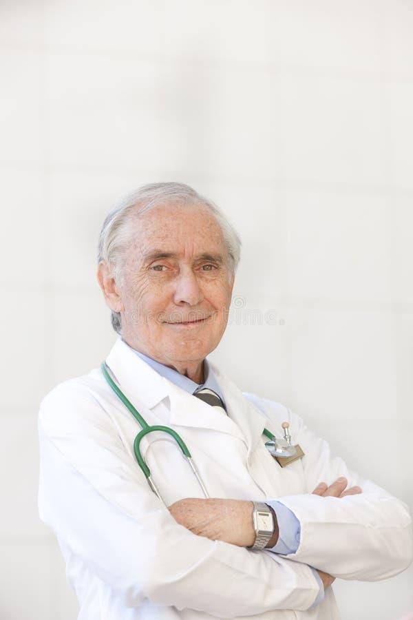 Portrait of senior doctor royalty free stock image