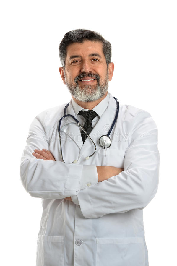 Portrait of Senior Doctor stock photography
