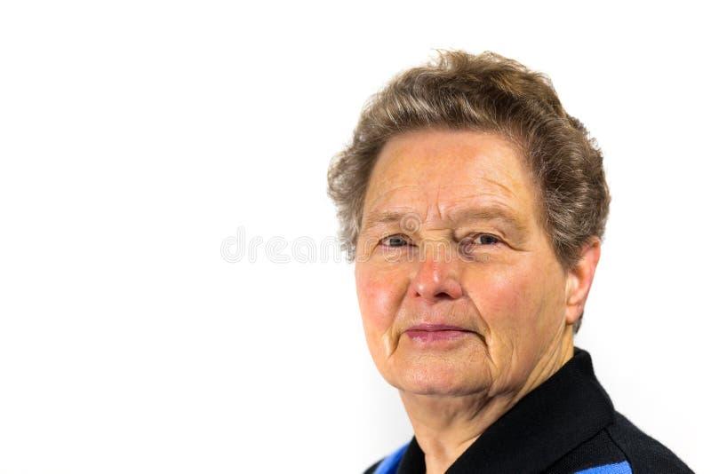 Portrait of a senior dutch woman royalty free stock photography