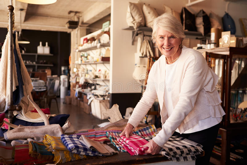 Portrait Of Senior Female Owner Of Gift Store royalty free stock photos