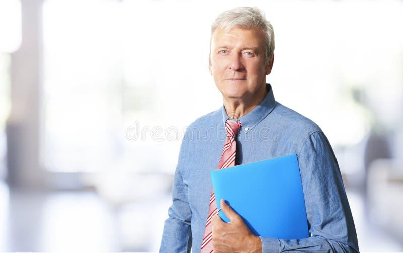 Old businessman portrait royalty free stock image