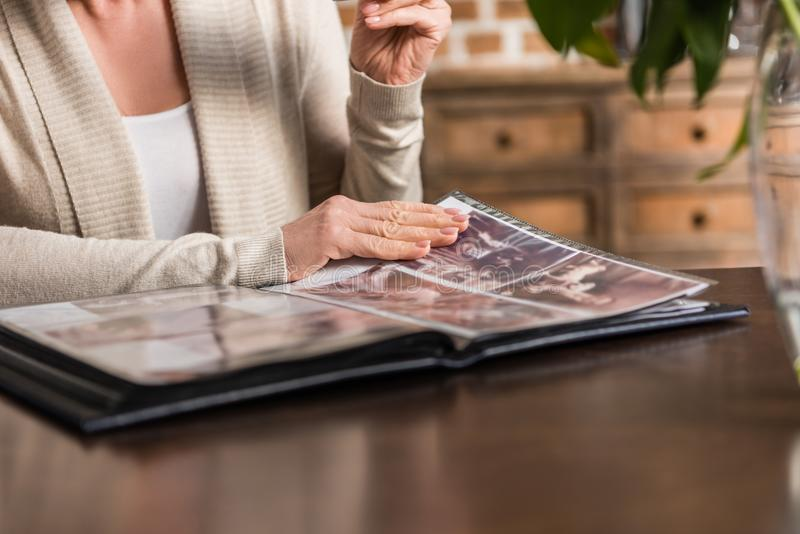 Portrait of senior gray hair woman royalty free stock image