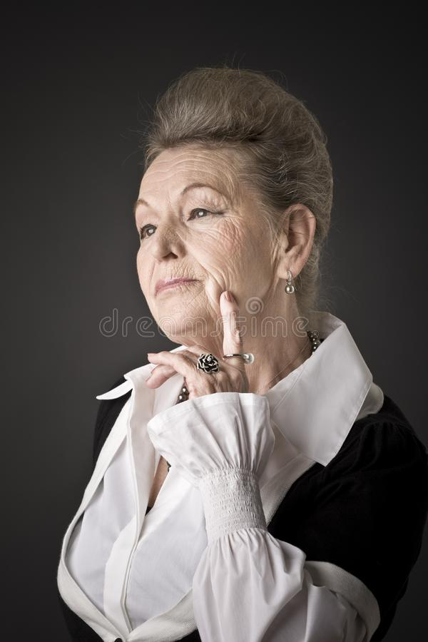 Portrait of a senior lady stock photos